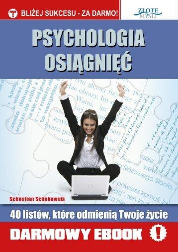 Psychologia Osiagnięć - Sebastian Schabowski - Perfumy FM