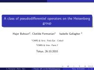 A class of pseudodifferentiel operators on the Heisenberg group