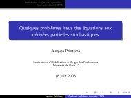 Transparents de la soutenance - Université Paris-Est Marne-la-Vallée