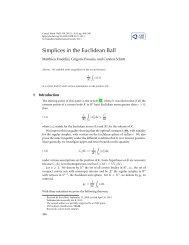 Simplices in the Euclidean Ball - Université Paris-Est Marne-la-Vallée