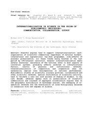 internationalisation in science in the prism of bibliometric indicators