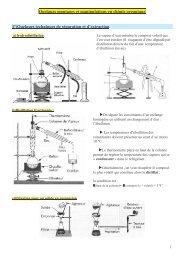 Quelques montages et manipulations en chimie organique I ...