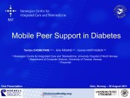 Mobile Peer Support in Diabetes - Department of Health Science ...