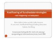 Kvalificering af Sundhedsterminologien - Aalborg Universitet