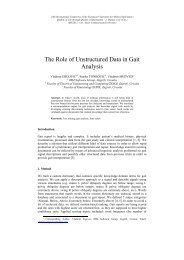 The Role of Unstructured Data in Gait Analysis