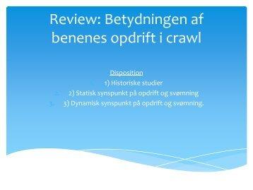 Review af opdrift i crawl