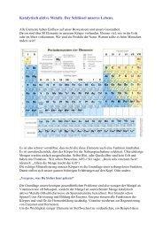 Katalytische Metalle als Taktgeber der Enzyme - Peter-weck.de