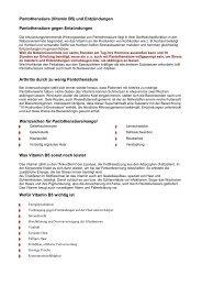 Pantothensäure (Vitamin B5) und Entzündungen ... - Peter-weck.de