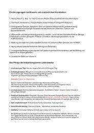 Ernährungsregeln bei Rheuma und entzündlichen ... - Peter-weck.de