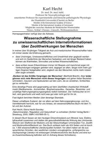 Zeolith - Heck Bio-Pharma GmbH