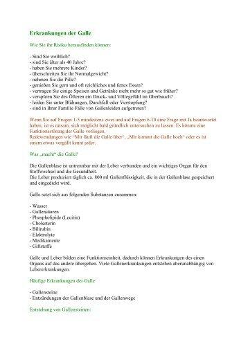 Erkrankungen der Galle - Peter-weck.de