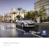 PEUGEOT 207 CC Farben & Polster