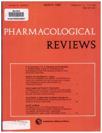 Front Matter (PDF) - Pharmacological Reviews