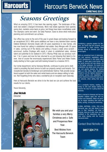 Christmas Newsletter 2012 - BN.pub - Harcourts