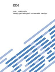 Managing the Integrated Virtualization Manager - IBM