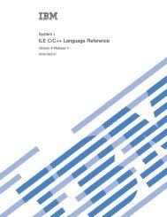 WebSphere Development Studio: ILE C/C++ Language Reference