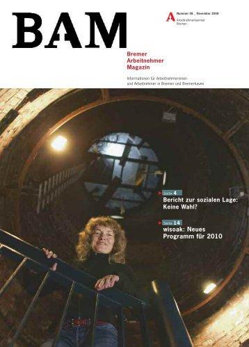 Download Ausgabe 8/2009 (pdf) - bei der Arbeitnehmerkammer ...