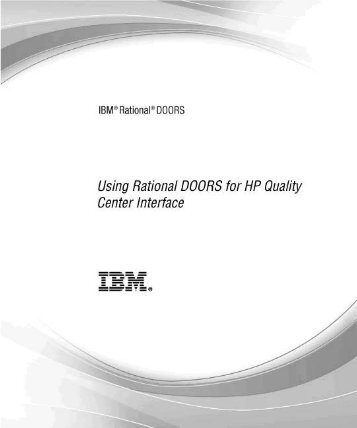 Using Rational DOORS For HP Quality Center Interface   IBM