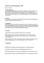 Allgemeine Geschäftsbedingungen ( AGB) Stand 1.10.2010 1 ...