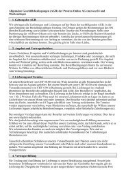 Allgemeine Geschäftsbedingungen (AGB) der Protexa Online AG ...