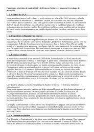 Conditions générales de vente (CGV) de Protexa Online AG ...