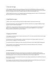 1. Natur des Vertrages 2. Begriffsbestimmungen 3. Zugang und ...