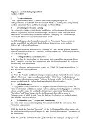 Allgemeine Geschäftsbedingungen (AGB) Stand 26.03.2010 1 ...