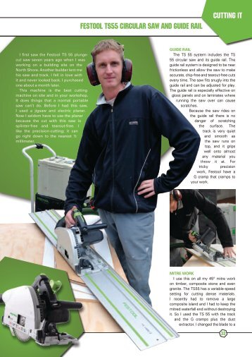 Cutting it Festool TS55 circular saw and guide rail - Festool Plunge ...