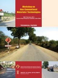 Workshop on Non-Conventional Materials/ Technologies - pmgsy