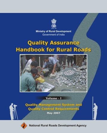 Quality Assurance Handbook for Rural Roads Volume-I - pmgsy
