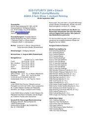 SÜD FUTURITY 2009 • Erbach DQHA Futurity/Maturity AQHA 2-fach ...