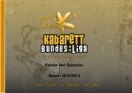 Spielplan der Kabarett-Bundesliga für die Saison 2012