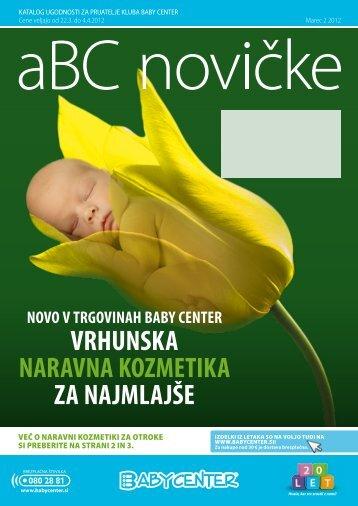 VRHUNSKA NARAVNA KOZMETIKA ZA NAJMLAJŠE - Baby Center