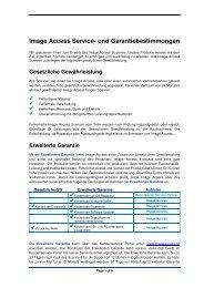 Erweiterte Garantie - Customer Service Portal - Image Access GmbH