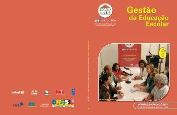 Formação Pedagógica - Gestão da Educação Escolar - Portal do ...