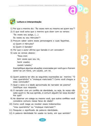 Orientações Pedagógicas para o Professor de Língua Portuguesa
