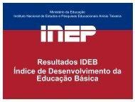 Ideb 2009 - Portal do Professor - Ministério da Educação