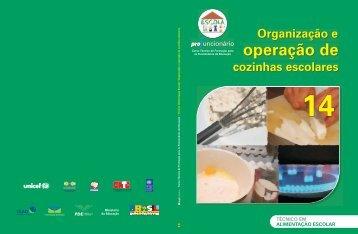 Organização e Operação de Cozinhas Escolares - Portal do ...