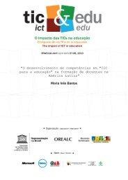 """""""O desenvolvimento de competências em """"TIC para a educação"""" na ..."""
