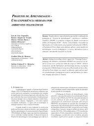 Uma experiência mediada por ambientes telemáticos - Portal do ...