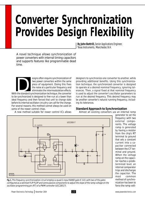 Converter Synchronization Provides Design     - Power Electronics