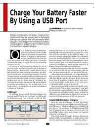 Charge Your Battery Faster By Using a USB Port - Power Electronics