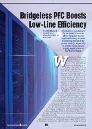 Bridgeless PFC Boosts Low-Line Efficiency - Power Electronics