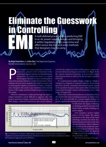Eliminate the Guesswork in Controlling - Power Electronics