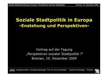 SRS Fachgebiet Stadt - bei der Arbeitnehmerkammer Bremen