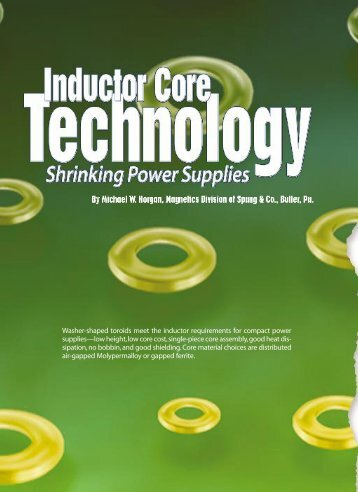 Inductor Core Technology - Power Electronics