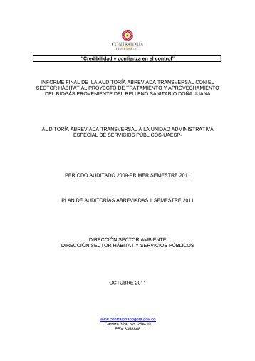 Informe UAESP-CER.pdf - Contraloria