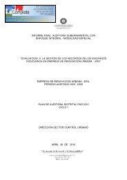 informe final auditoria gubernamental con enfoque integral - PQR ...