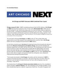 Art Chicago and NEXT Announce NEW Combined Floor Layout