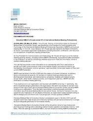 Cleveland MMCC's Prusak named VP of International Medical ...